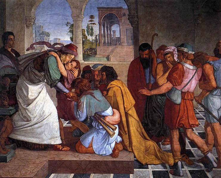 Peter von Cornelius - The Recognition of Joseph by his Brothers