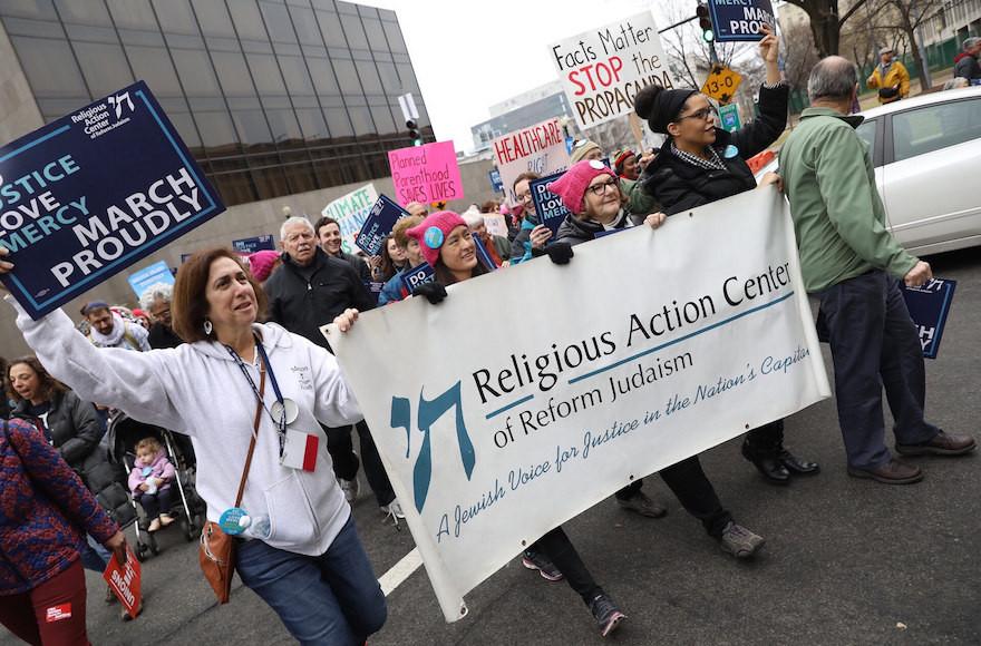 Marchers for Tikkun Olam. (Courtesy of RAC)