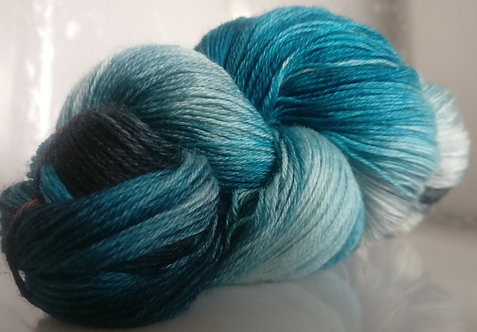 Gorgeous Knits Hand-Dyed 3-ply 100% Pure New British Knitting Wool - CharBlue