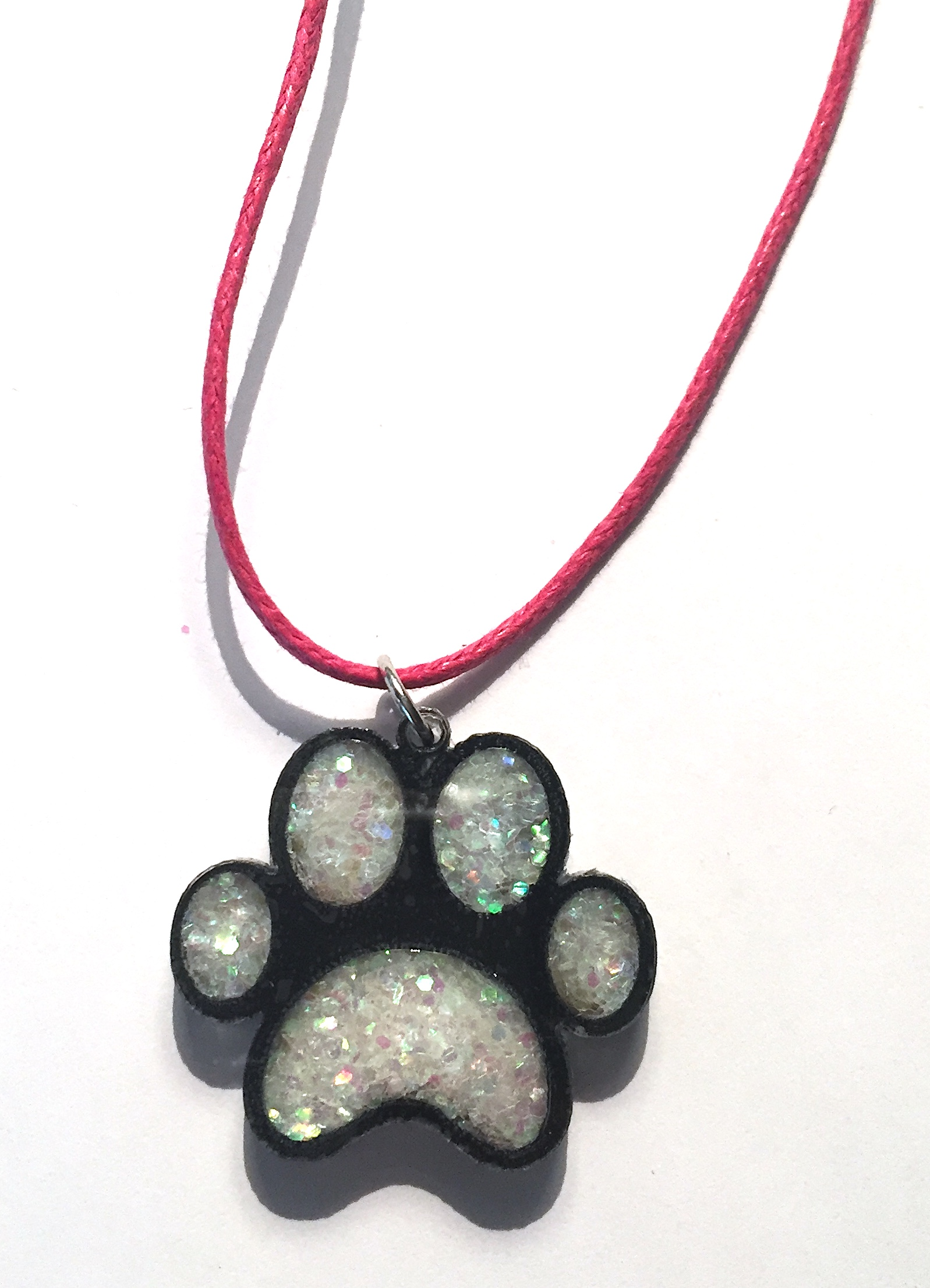 Shaker Paw Print Necklace