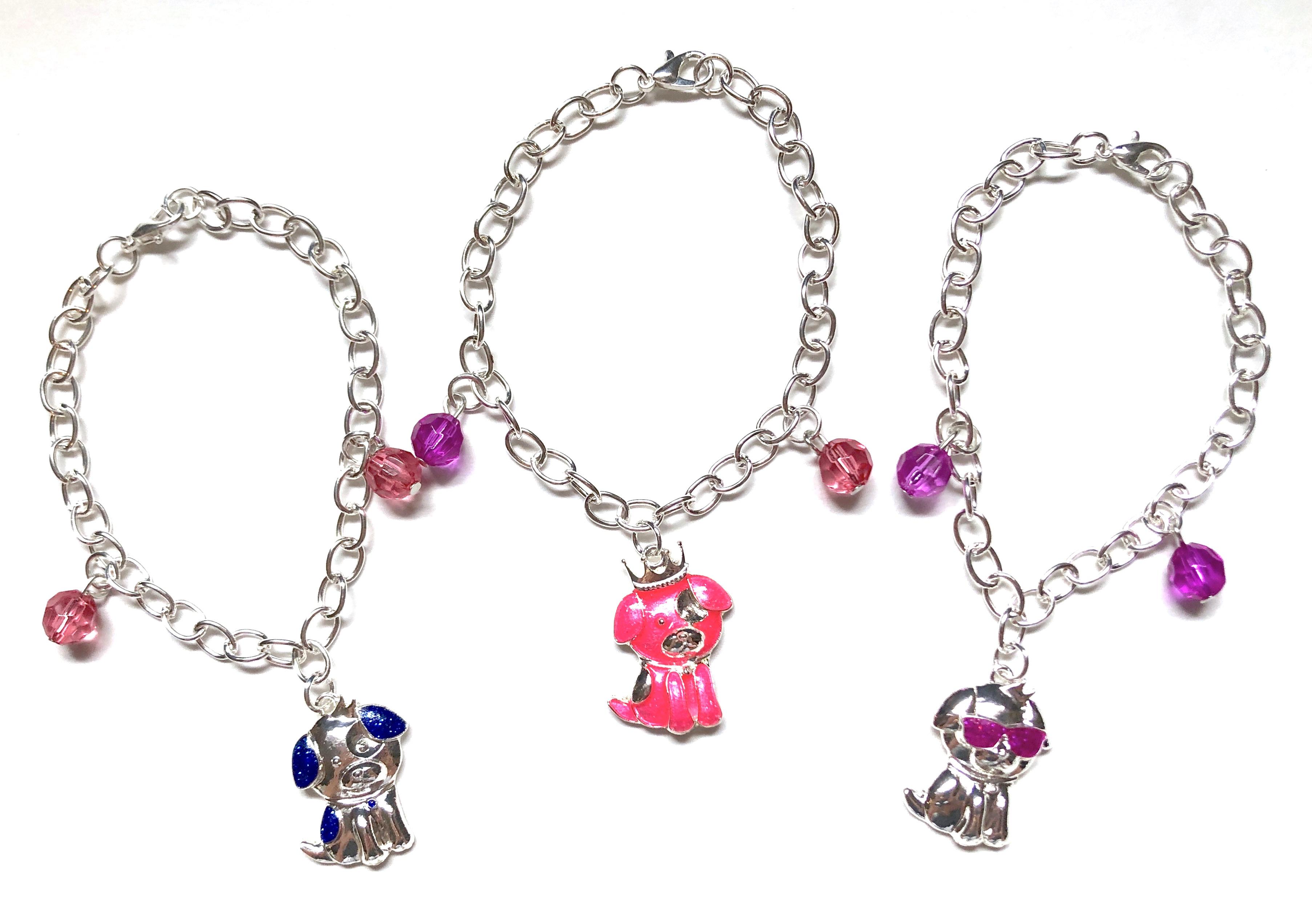Puppy Charm Bracelets