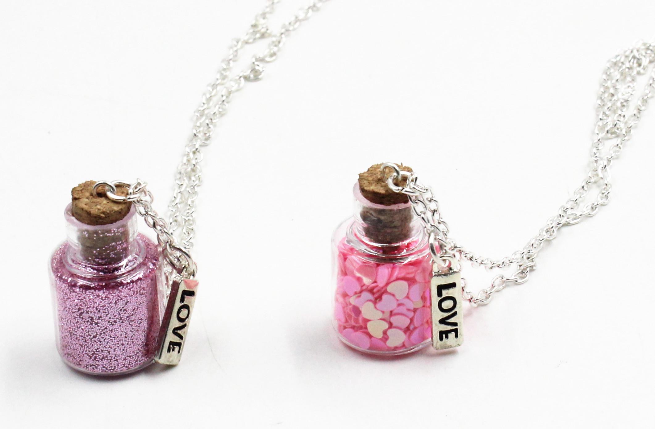 Love Bottle Necklaces