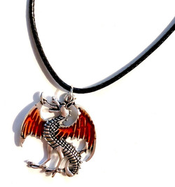 Red Wing Dragon Necklace