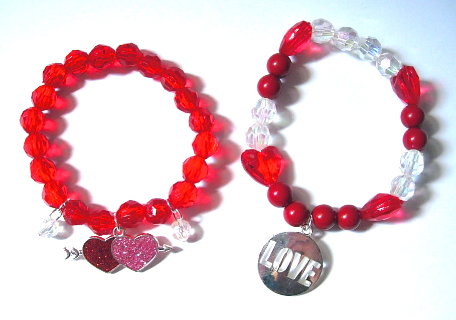 Faceted Bead Love Bracelets