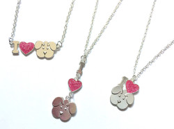 """I """"Heart"""" Puppy Necklaces"""