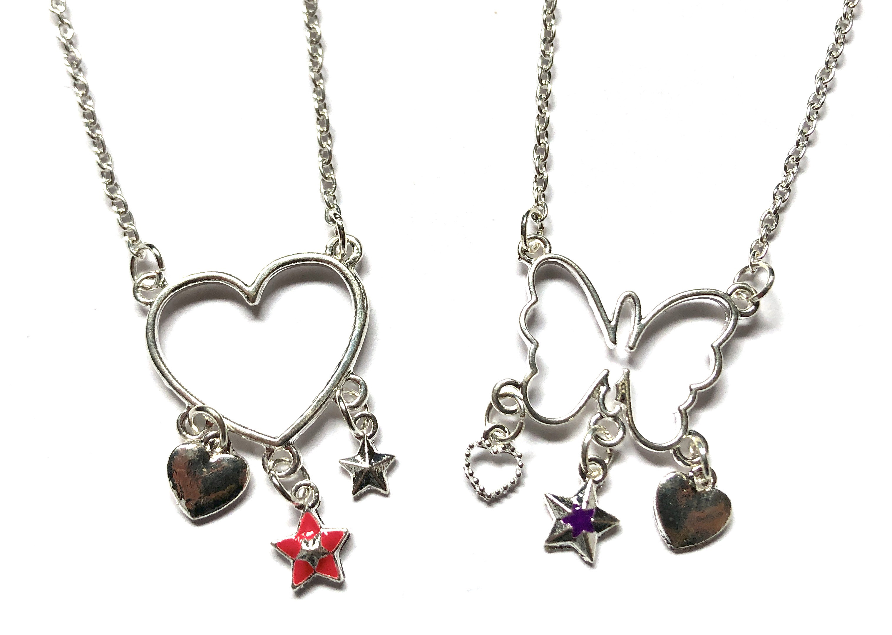 Butterfly & Heart Necklaces