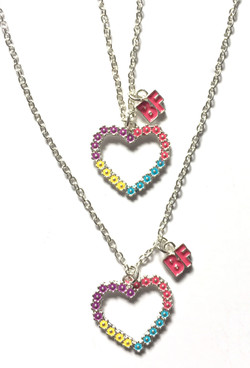 BF Heart Necklaces
