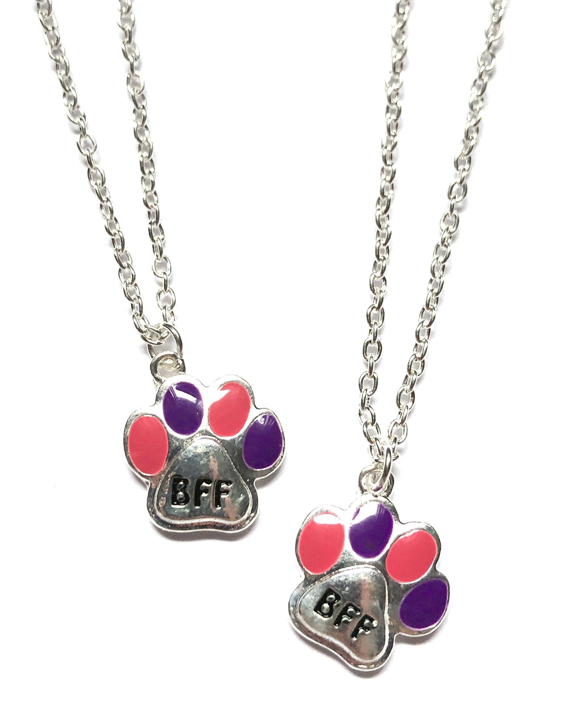 Paw Print BFF Necklace Set