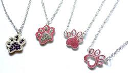 Fun Paw Print Necklaces
