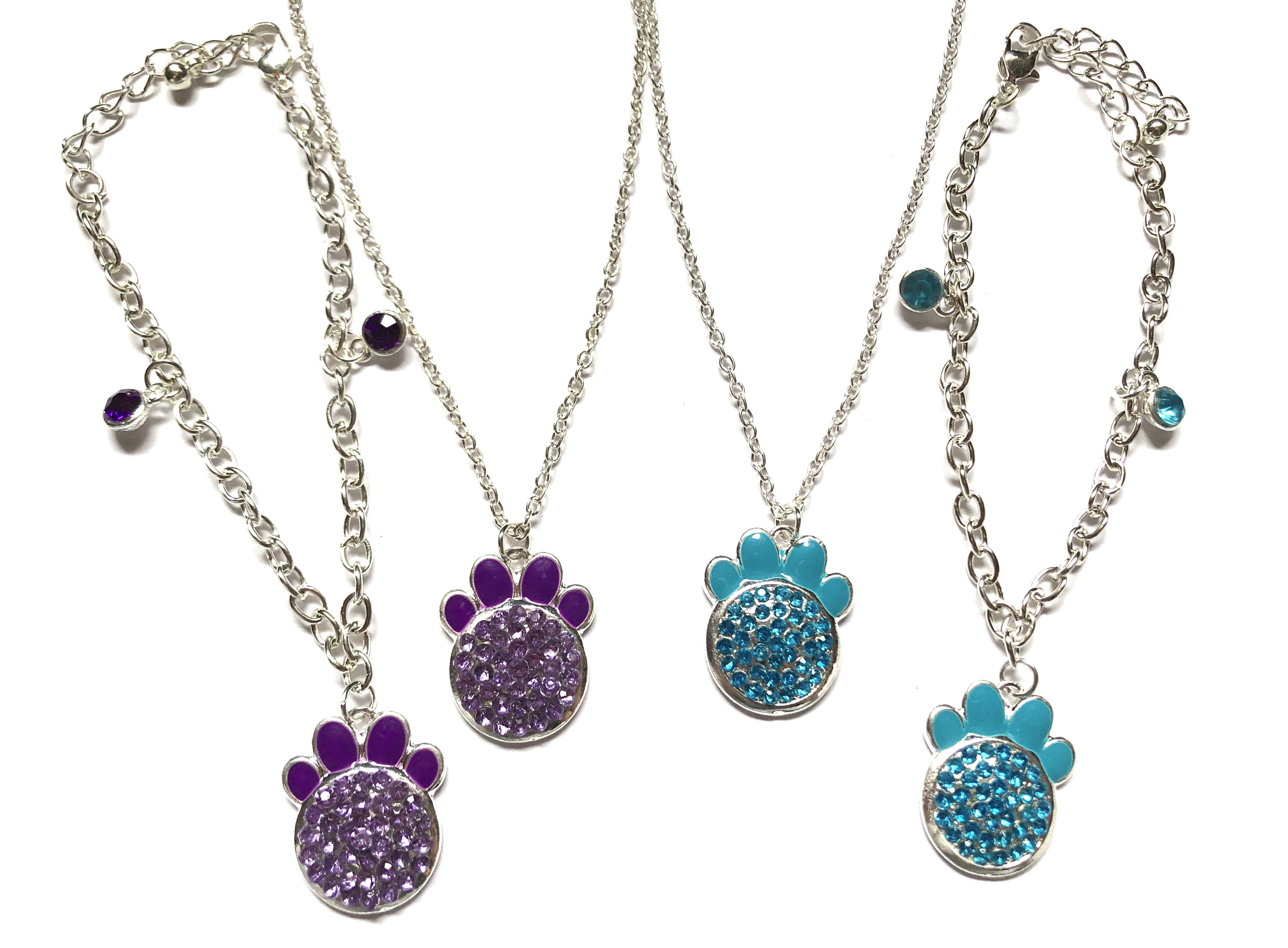 Paw Print Necklaces & Bracelets