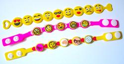 Silicone Emoji Bracelets