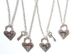 Heart + Lock Necklaces