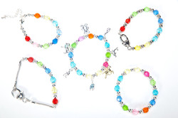 Faceted Bead Bracelets