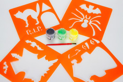 Halloween Stencils and Paint