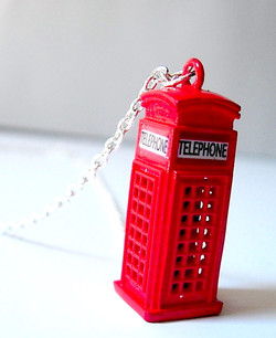 Phone Booth Necklace