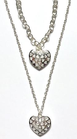 Heart Cut-Out Bracelet + Necklace