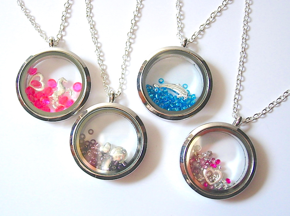 Shaker Charm Necklaces