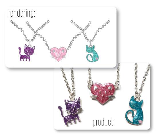 Cat Necklace Renderings
