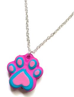Squishy Paw Print Necklace