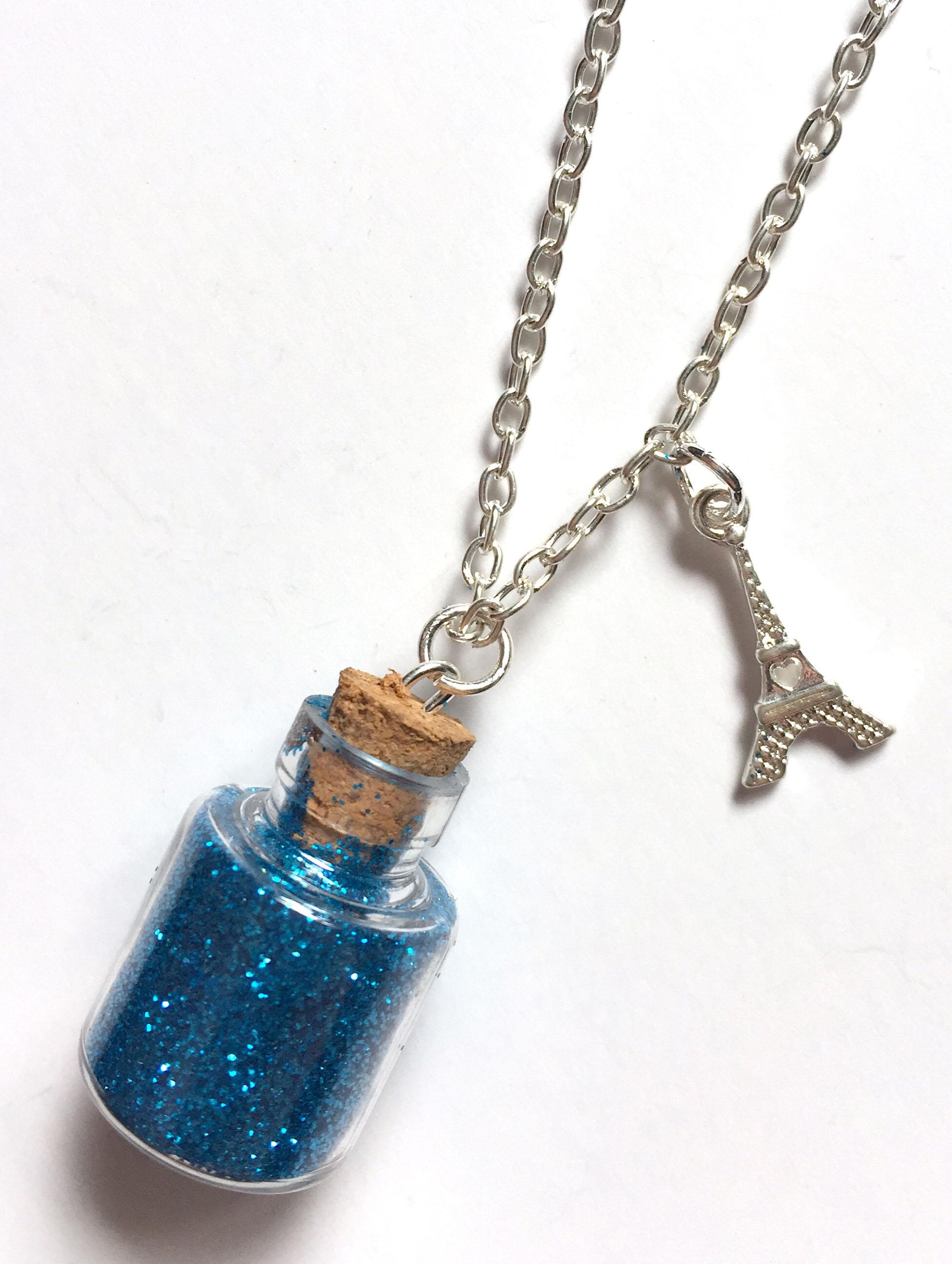 Eiffel Tower Bottle Necklace