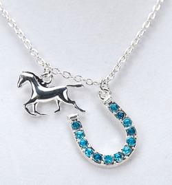 Horse + Horseshoe Necklace