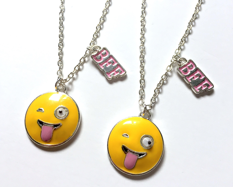 Googly Eye Emoji BFF Necklaces