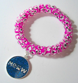 Coil Bracelet with Charm