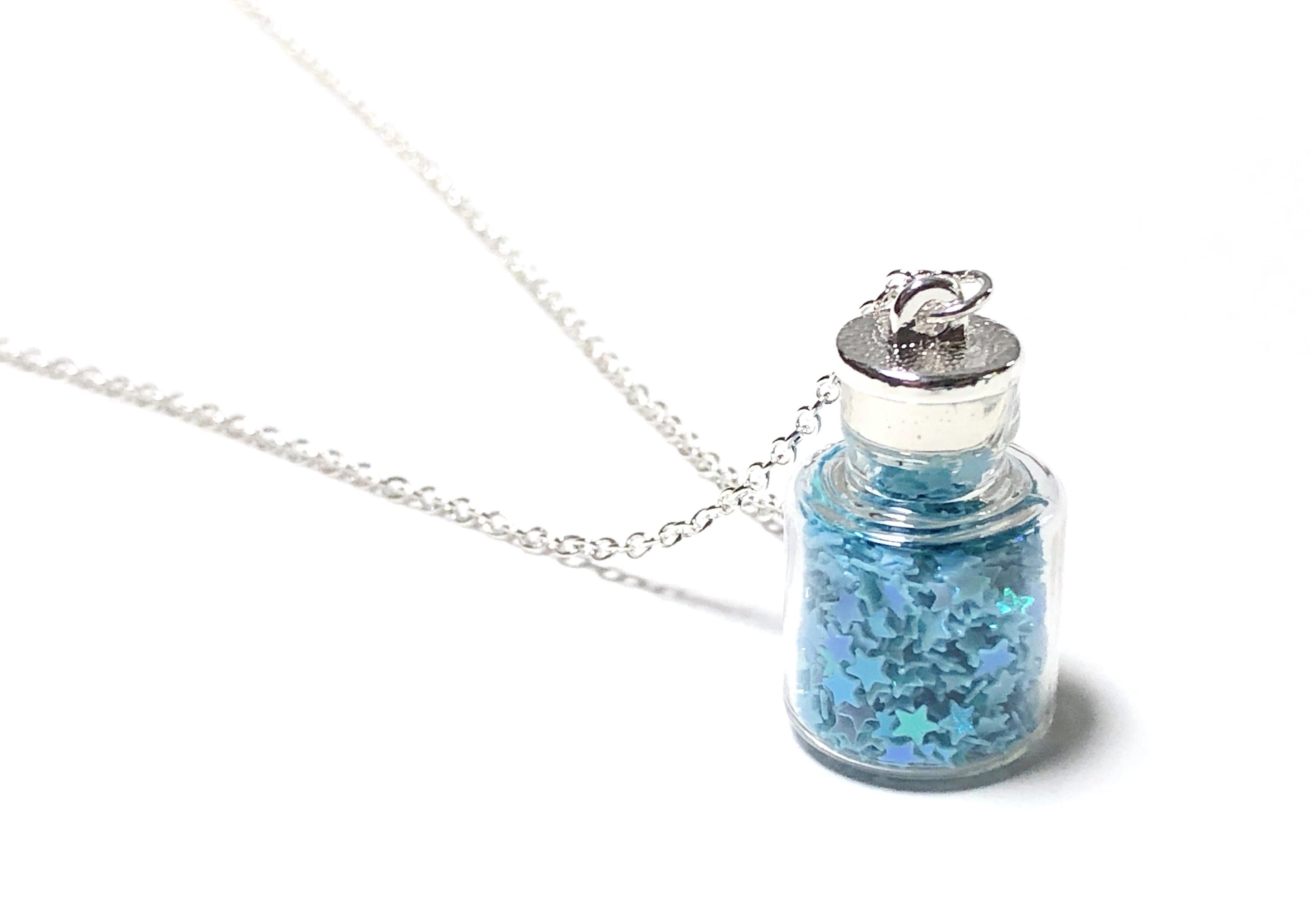 Glitter Star Bottle Necklace