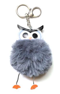 Owl Pom Pom Keychain