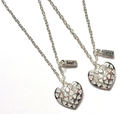 Heart Cut-Out BF Necklaces