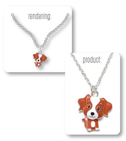 Puppy Necklace Rendering