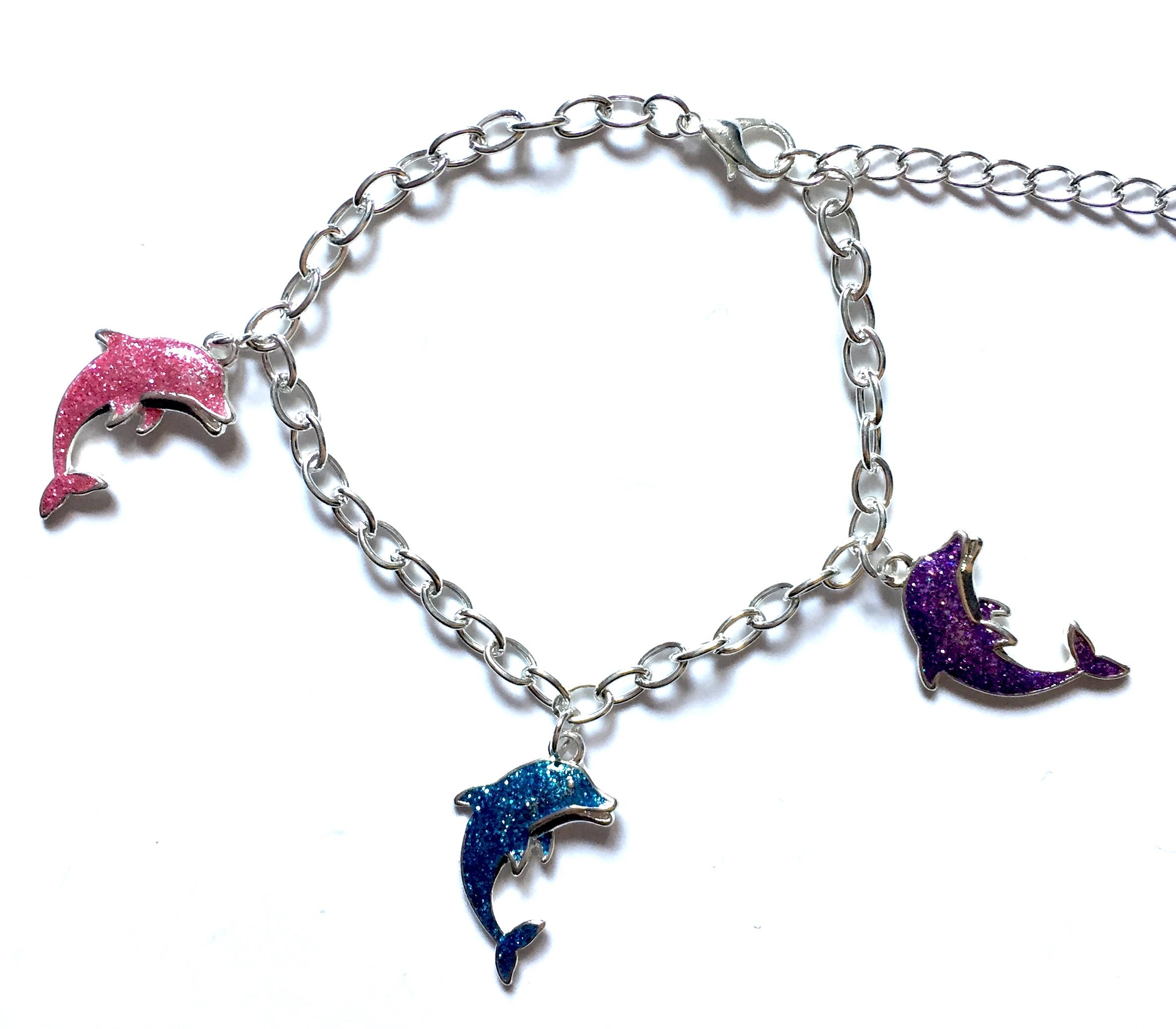 Glitter Dolphin Bracelet