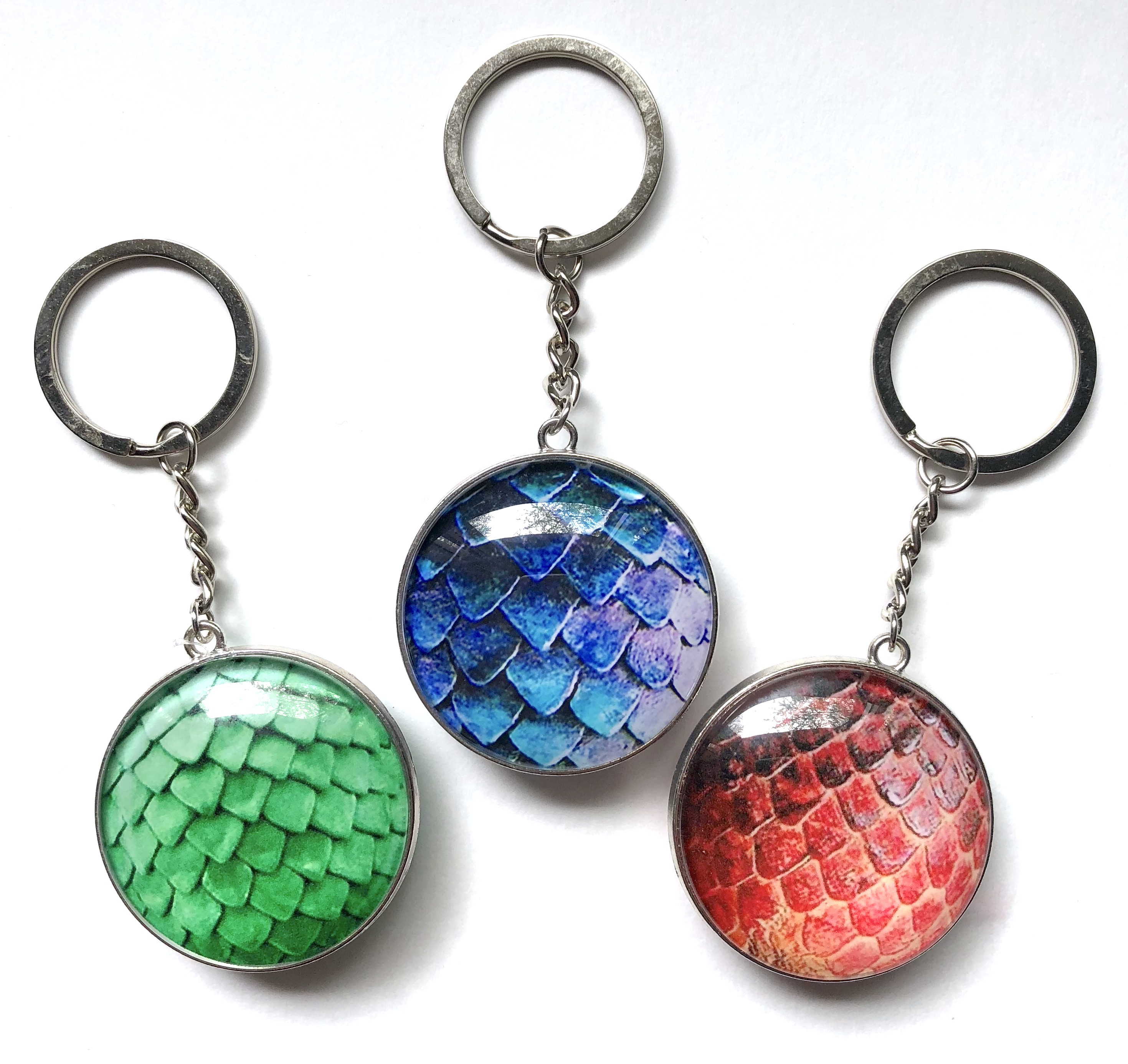 Domed Keychains