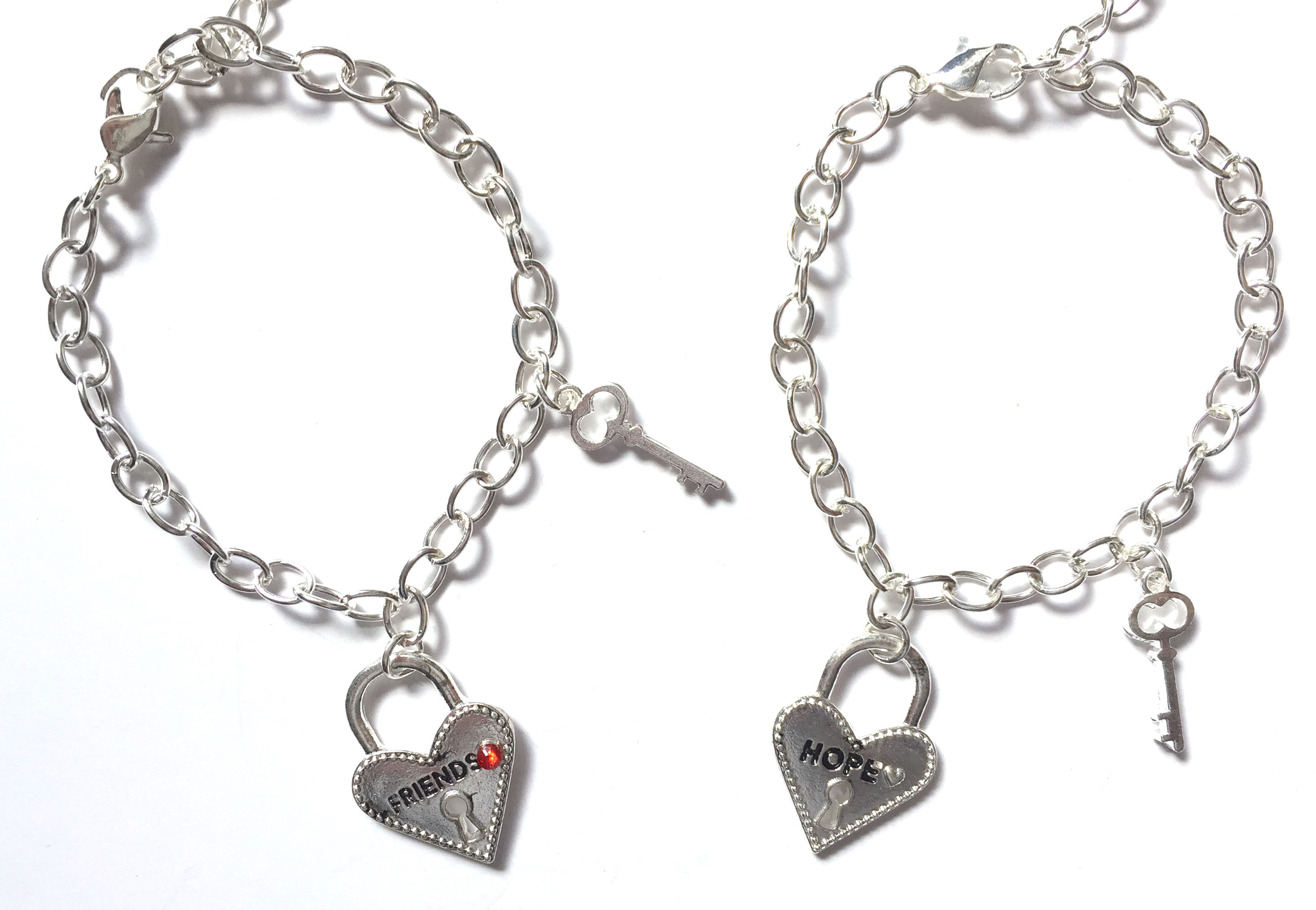 Heart + Lock Bracelets