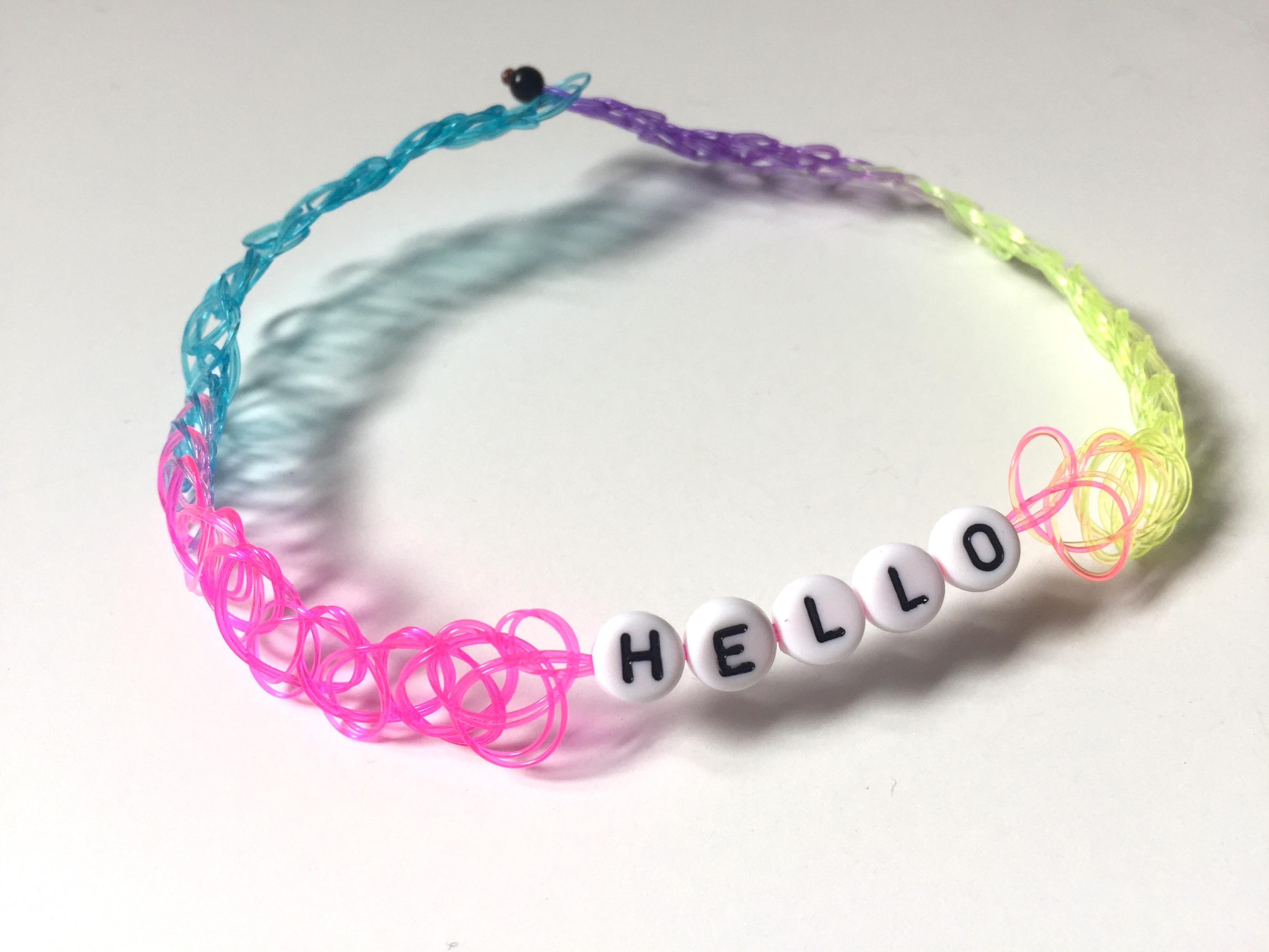 """Hello"" Choker Necklace"