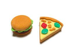 Pizza and Burger Eraser Set