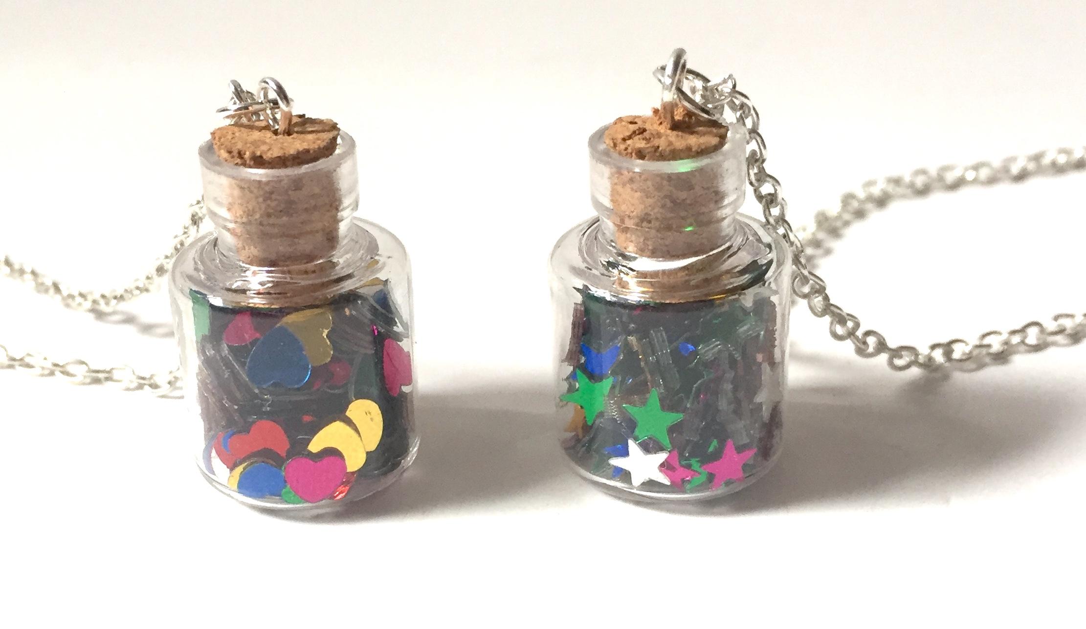 Confetti Bottle Necklaces