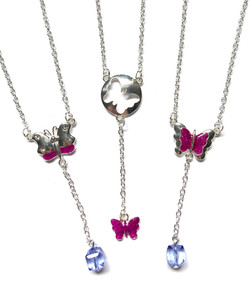 Butterfly Drop Bead Necklaces