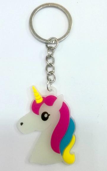 Laser Cut PVC Unicorn Keychain