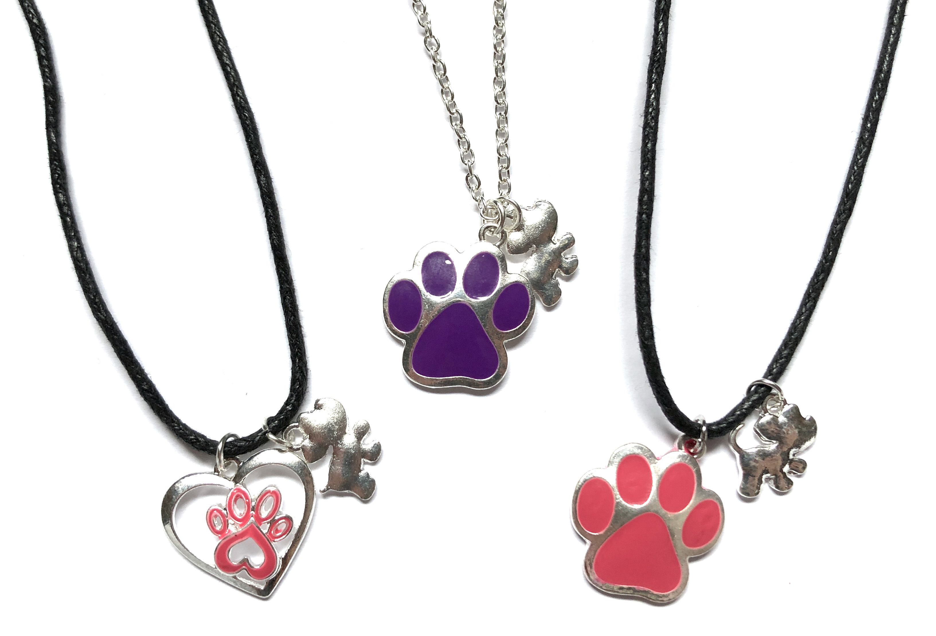 Paw Print & Puppy Necklaces