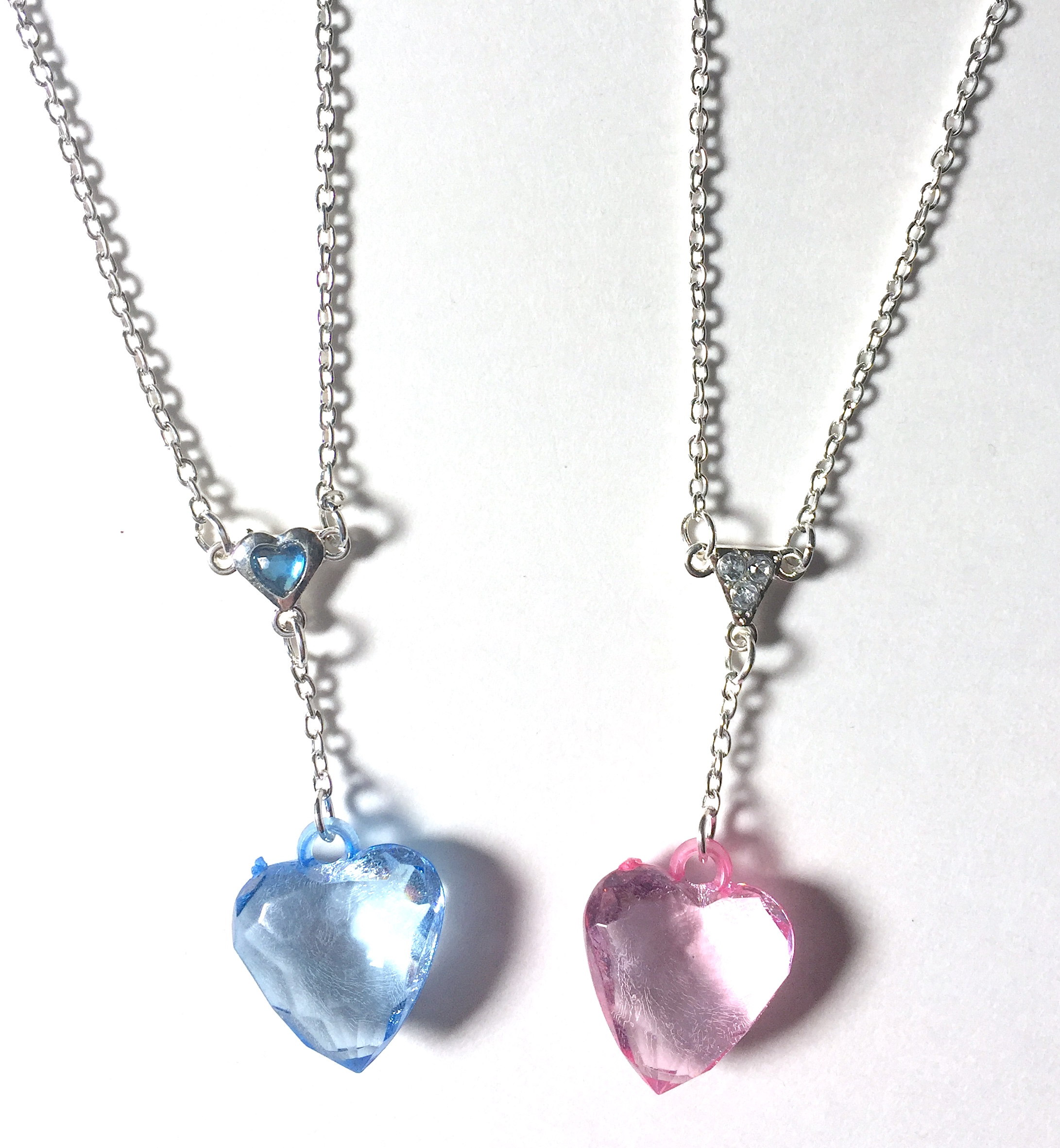 Faceted Heart Necklaces