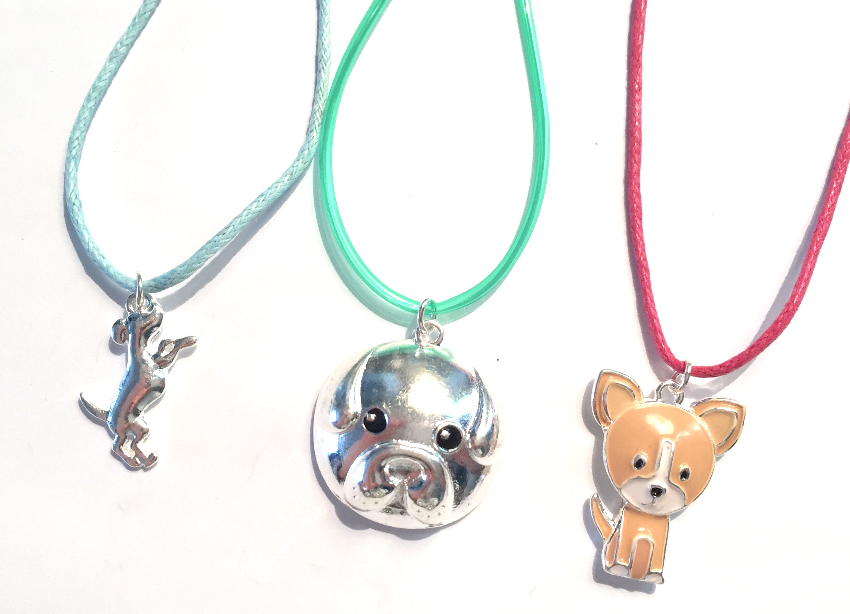 Corded Puppy Necklaces