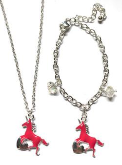 Unicorn Necklace & Bracelet SetSet