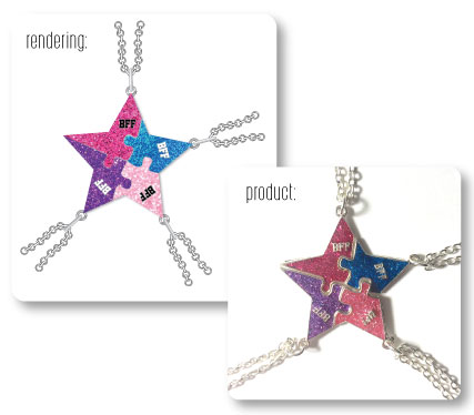 Star BFF Necklace Rendering