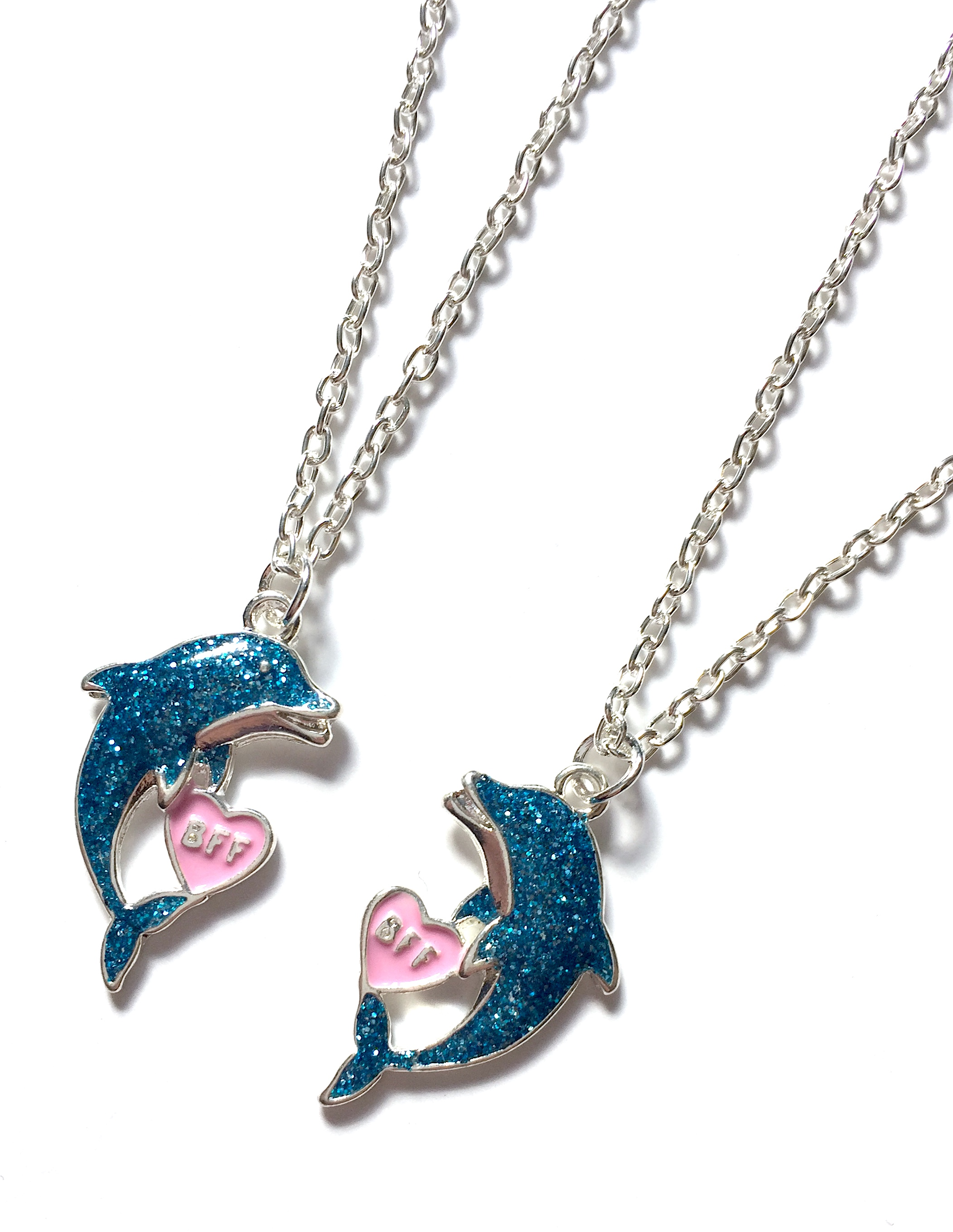 Glitter Dolphin BFF Necklaces