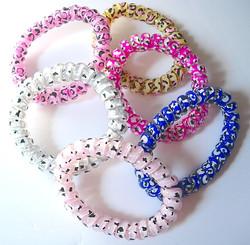 Leopard Print Coil Bracelets