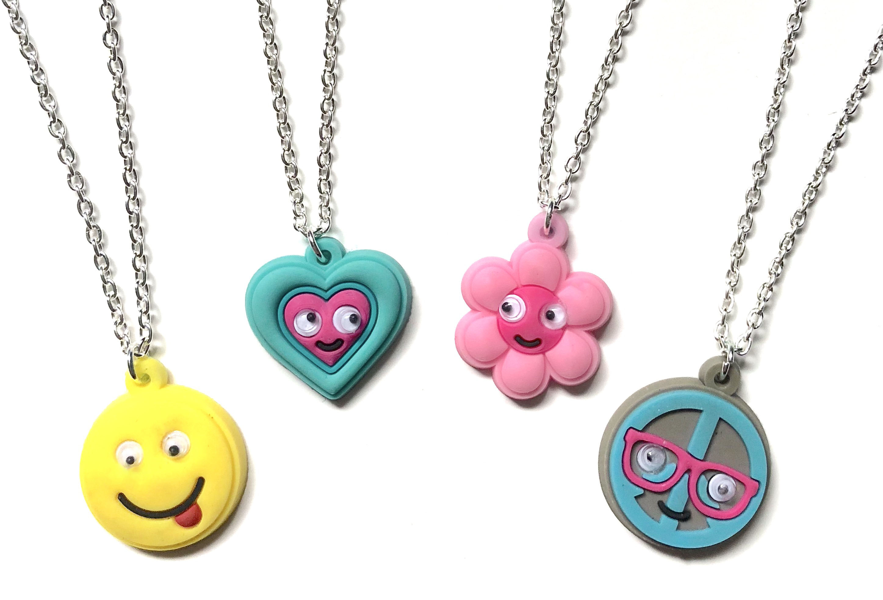 Laser Cut PVC Goggly Eye Necklaces