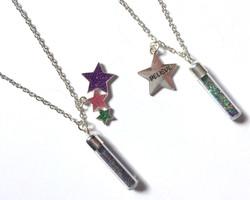 Glitter Bottle Necklaces