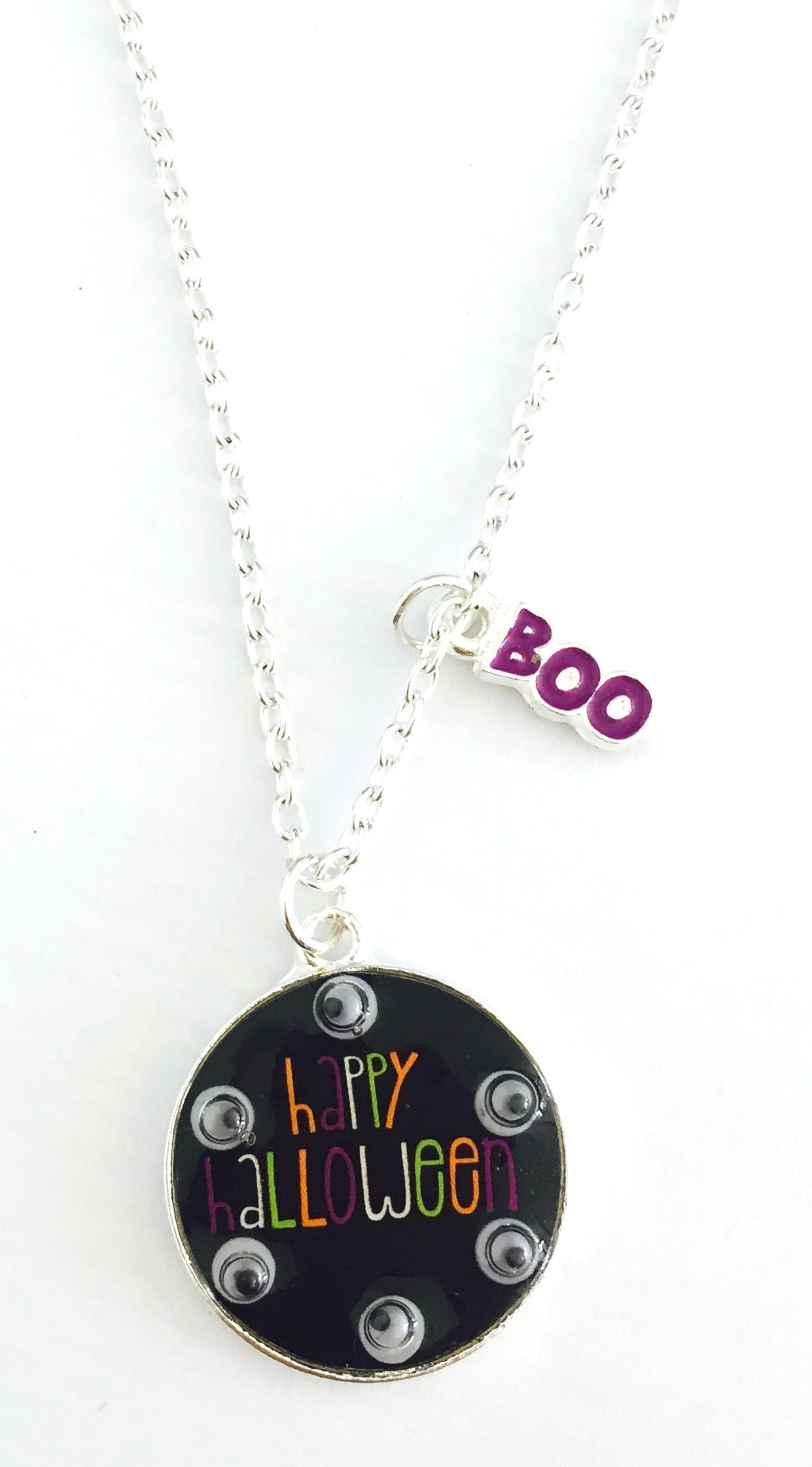 Googly Eye Halloween Necklace