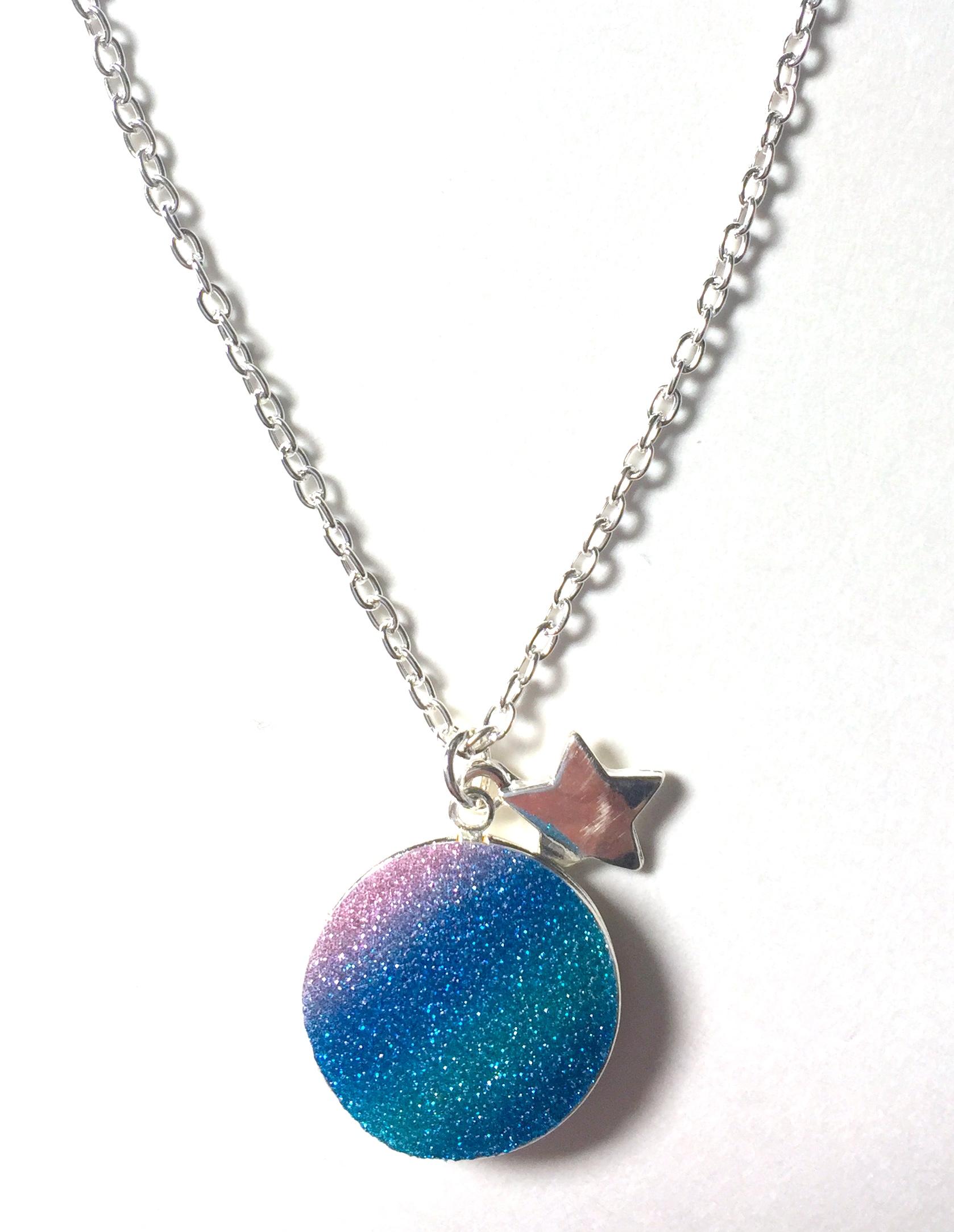 Glitter Moon Locket